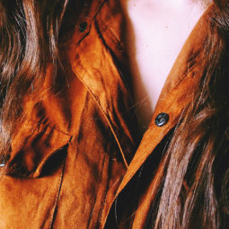 Exotic Brown Suede Shirt